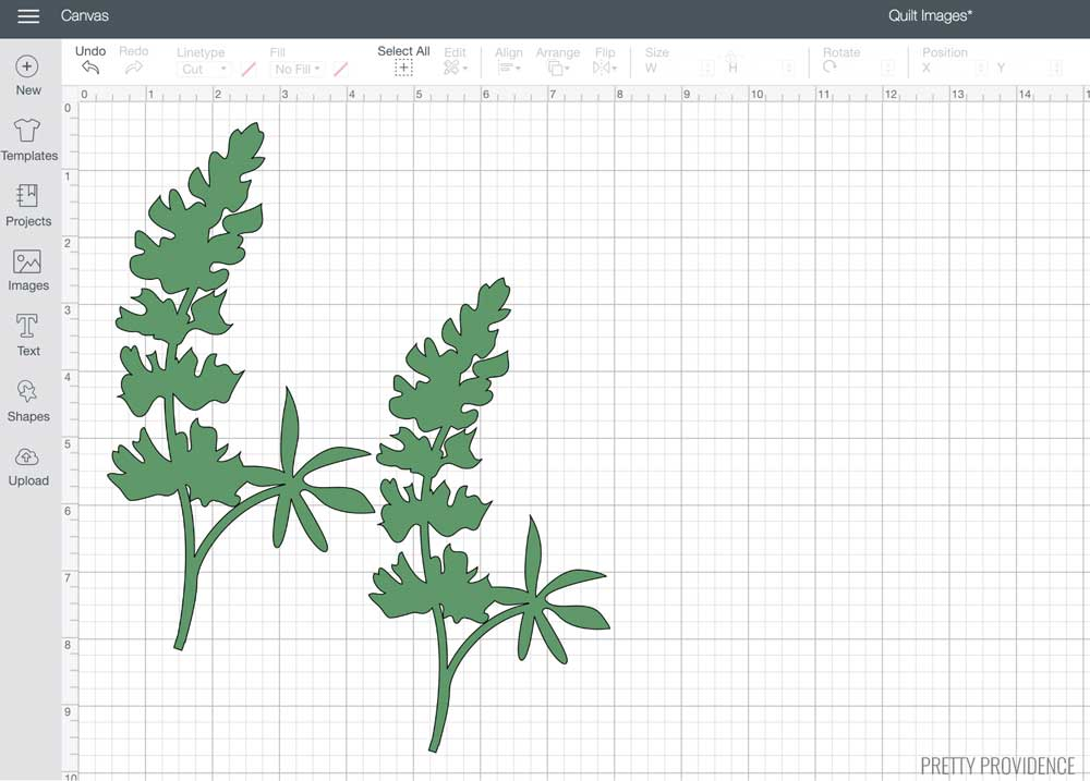 Bluebonnets in Cricut Design Space