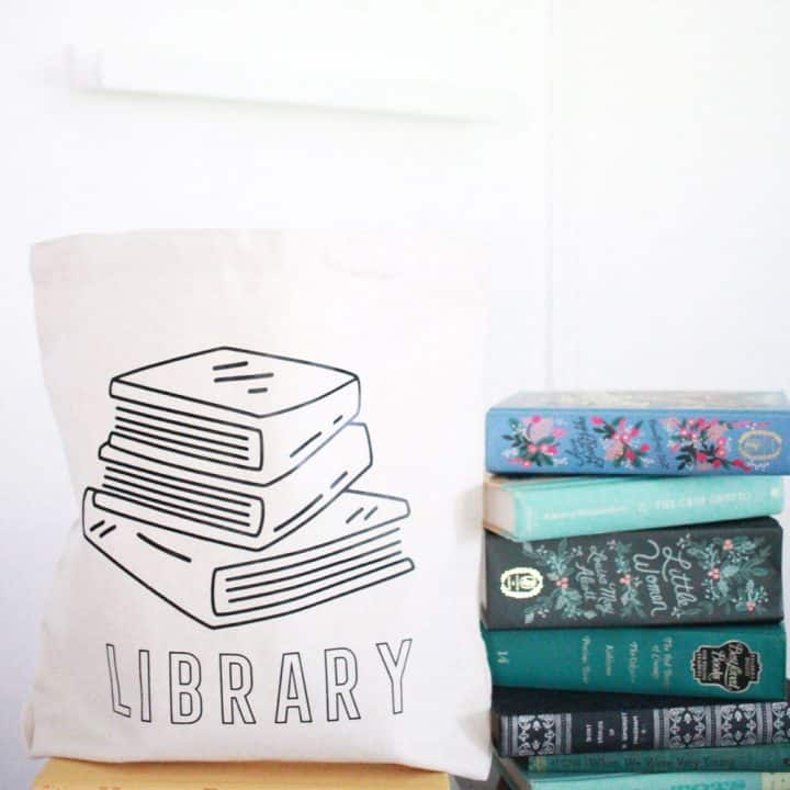 Customized Canvas Tote Bag for the Library