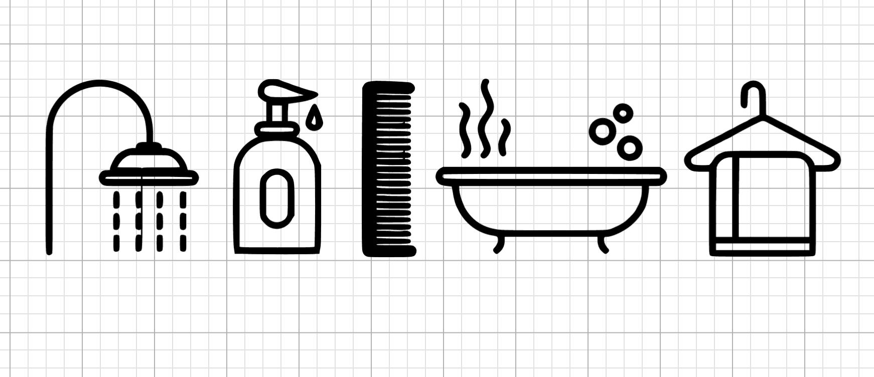 bathroom symbols sign