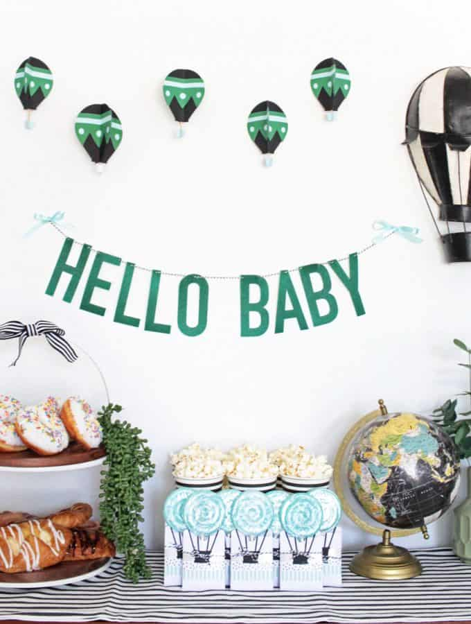 Hot Air Balloon Baby Shower
