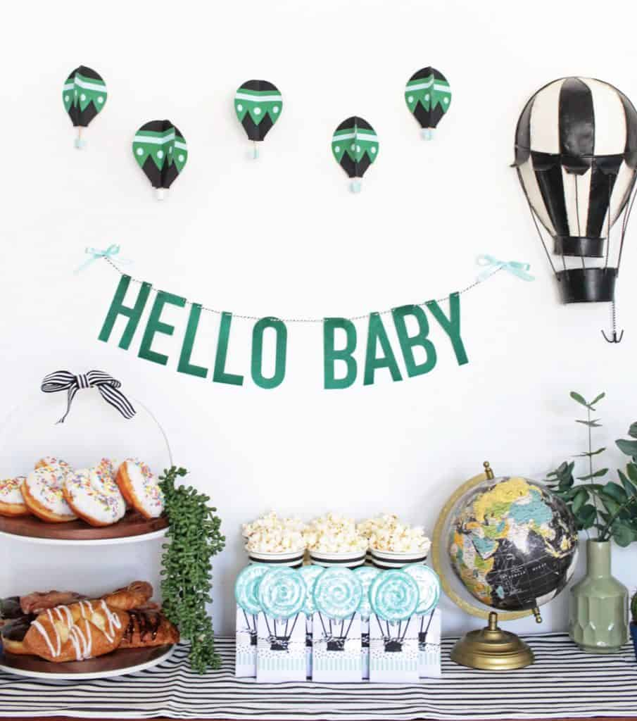 Hot Air Balloon Baby Shower - Boy Baby Shower Ideas