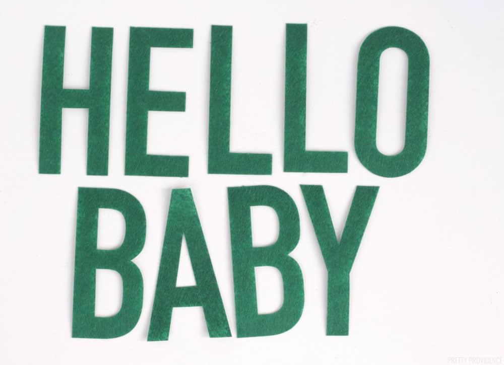 Baby Shower Banner Felt