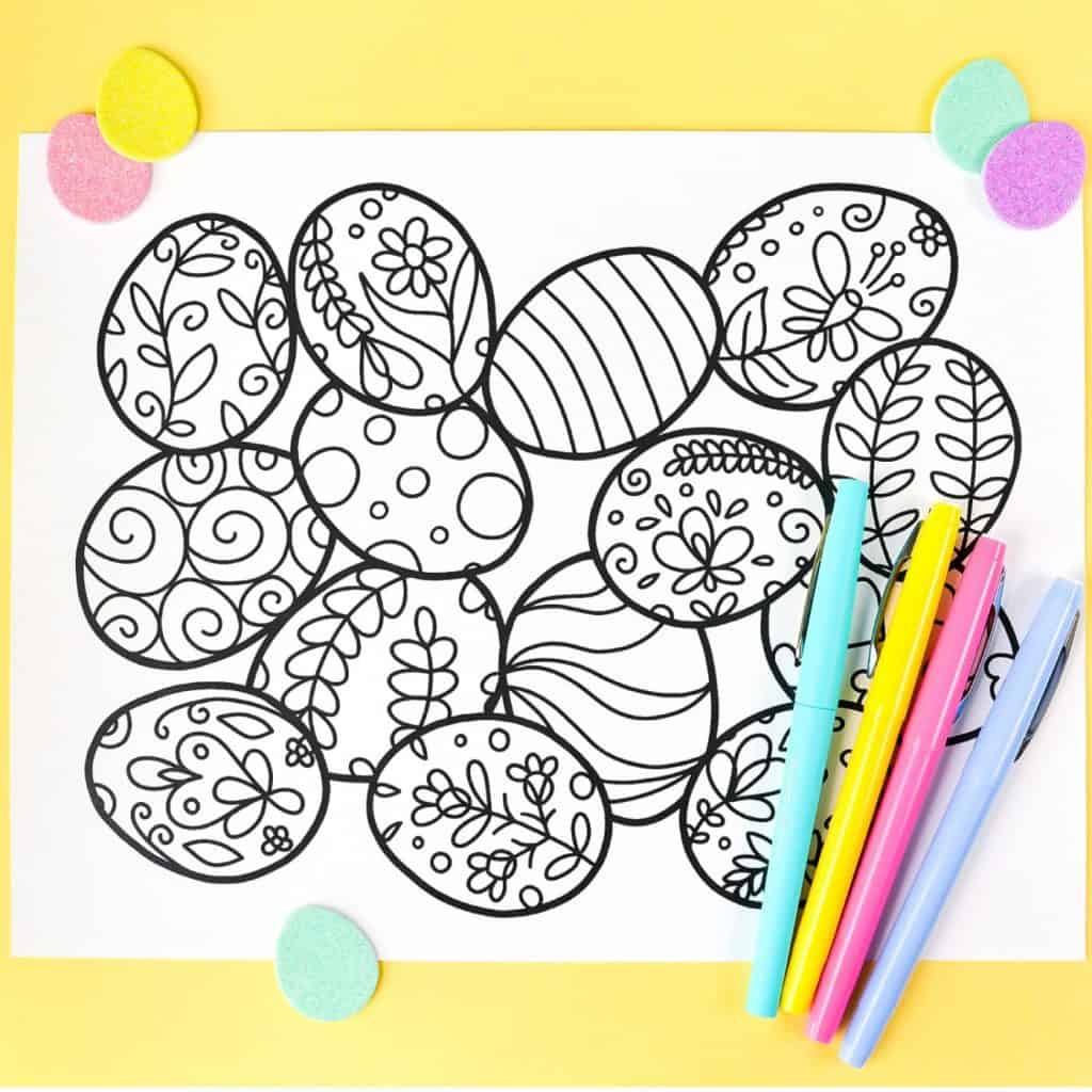 Easter Coloring Page Hey Let's Make Stuff
