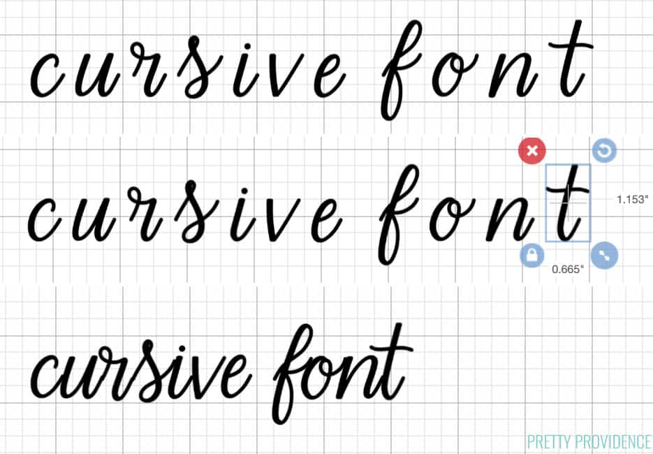 Cricut Font Spacing