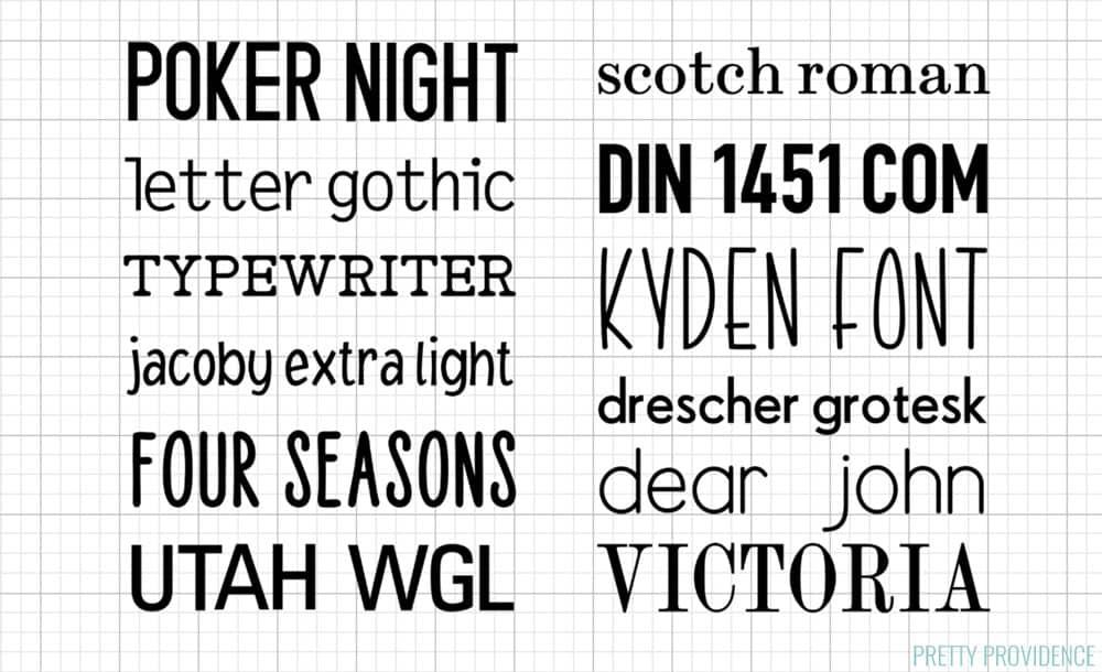 Cricut Fonts