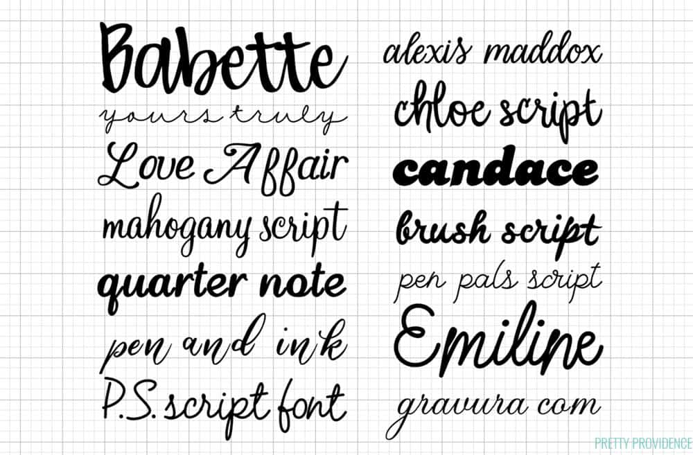 All About Cricut Fonts - The Best Fonts in Cricut Design Space