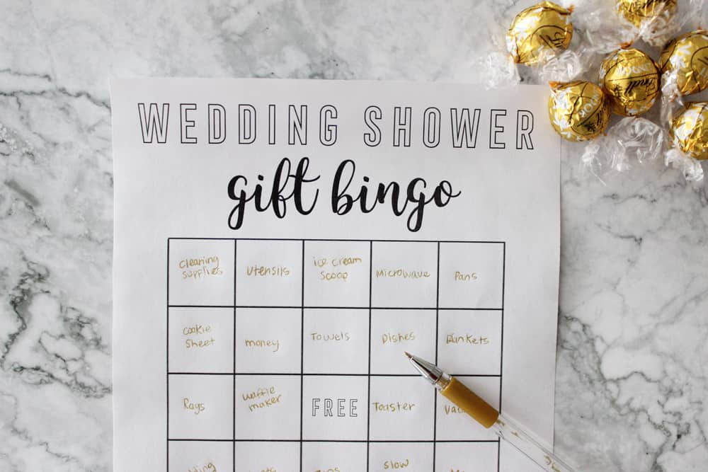 filling out your bridal shower bingo