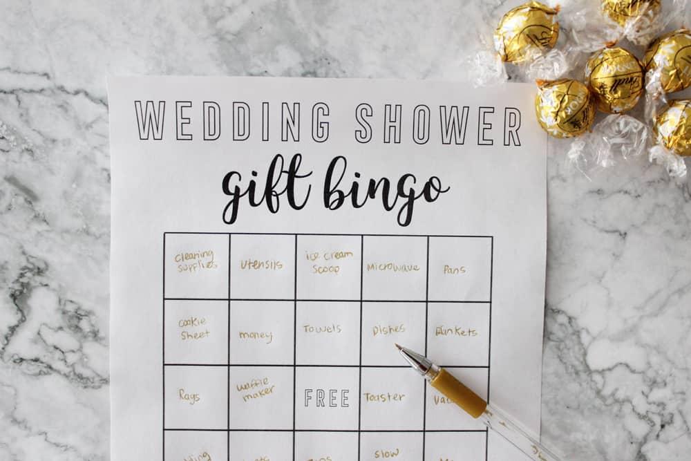 image regarding Printable Bridal Bingo named Bridal Shower Bingo - Free of charge Printable Bridal Shower Sport