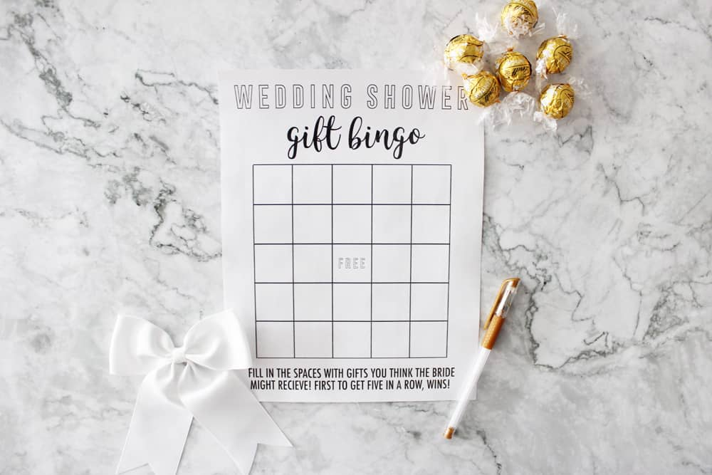 graphic relating to Printable Wedding Shower Games named Bridal Shower Bingo - Absolutely free Printable Bridal Shower Sport