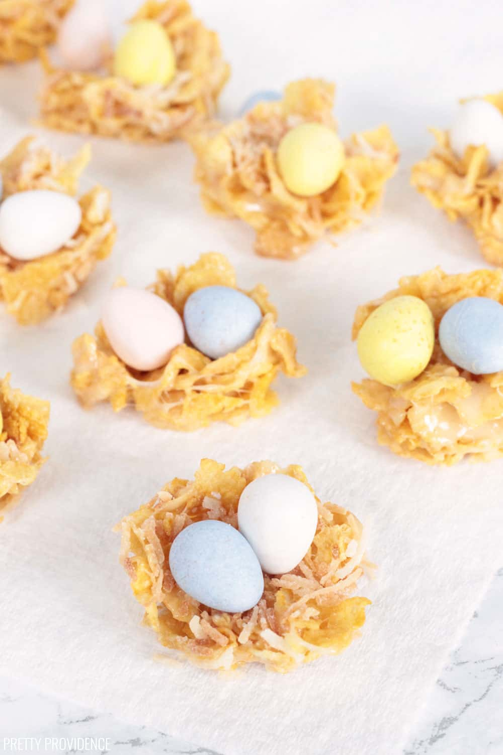 Easter Nests with Cadbury Mini Eggs, Cornflakes and Marshmallows