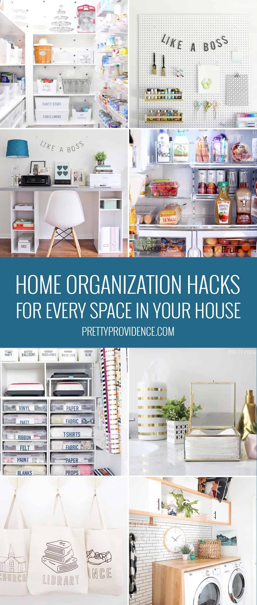 Home organization is so important! If you need organizing ideas look no further! These home organization hacks, tips and tricks will whip you into shape in no time!