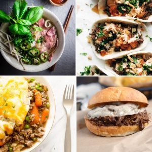 From beef stew, to beef stroganoff, to tacos to burgers these beef instant pot recipes will rock your socks off!