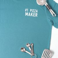Gift for dad idea: #1 Pizza Maker T-shirt with pizza cutter
