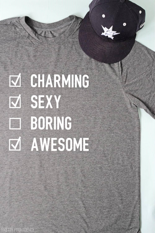 Funny T-Shirts for Men - DIY