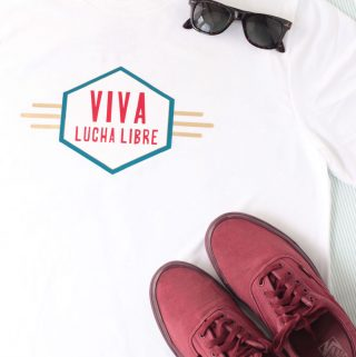 "Cool T-Shirt for Men made with Cricut, that says ""Viva Lucha Libre"""