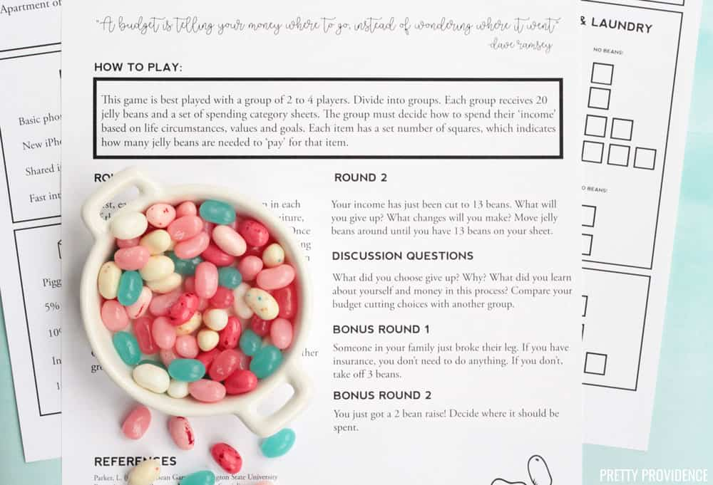 Teach Teens How to Manage Money - The Jelly Bean Game