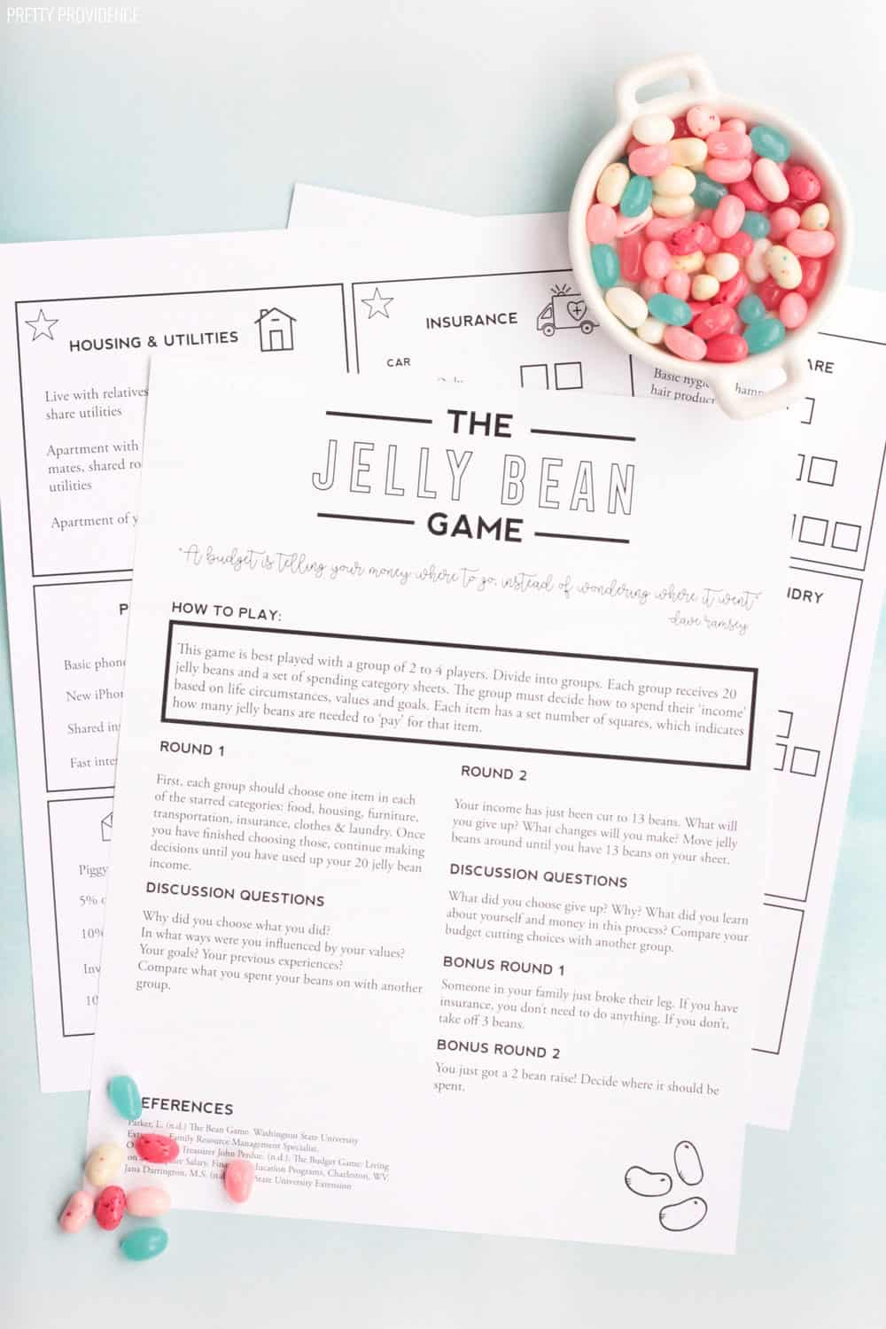 Money Management Game for Teens - The Jelly Bean Game
