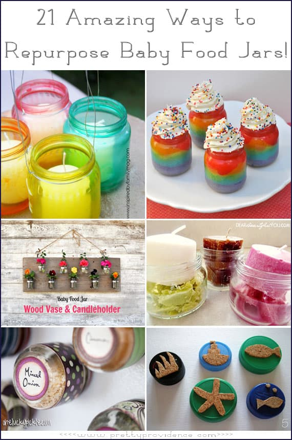 21 Amazing Ways to Repurpose Baby Food Jars!