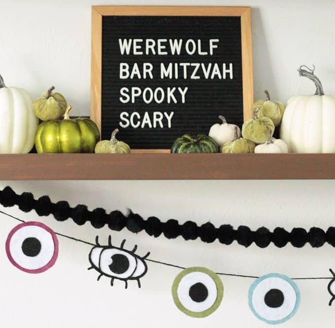 Easy Halloween Eyeball Garland