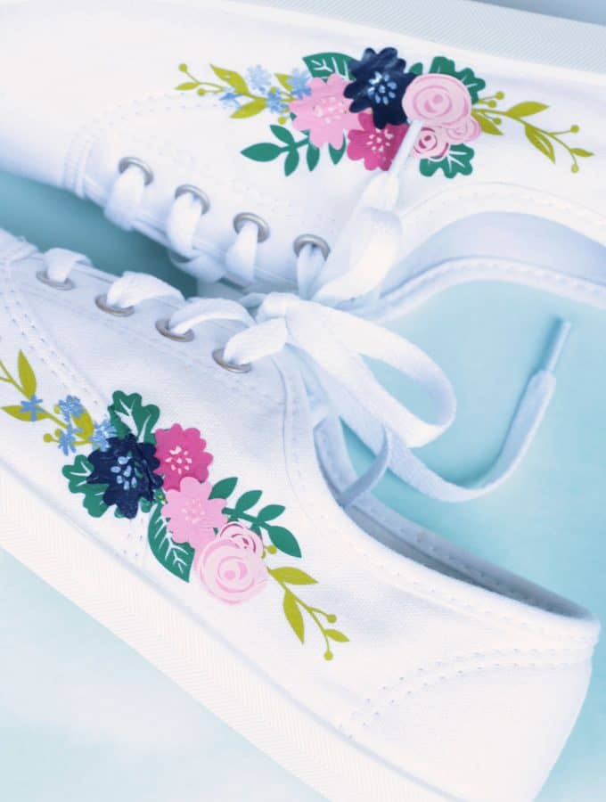 Floral Sneakers – How to Add Iron-On to Shoes with EasyPress Mini