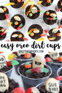 birds eye view of oreo dirt cups pinterest image
