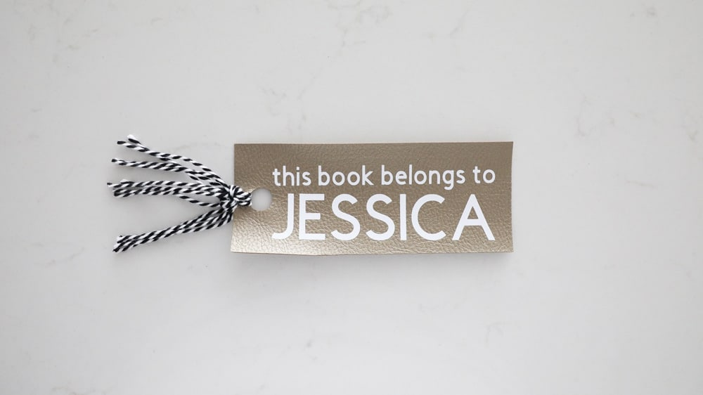 finished DIY bookmark on a white background