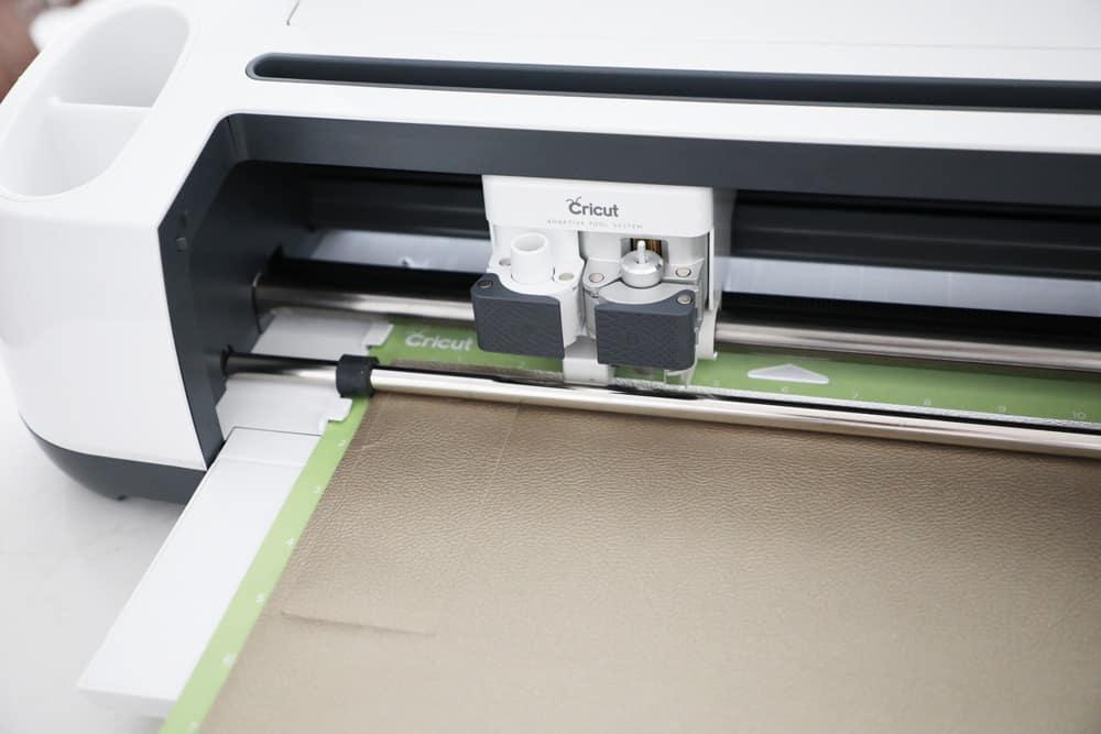 cricut maker machine cutting faux leather