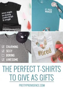 a collage of four diy t-shirts optimized for pinterest