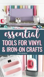 Essential tools for vinyl and iron-on crafts