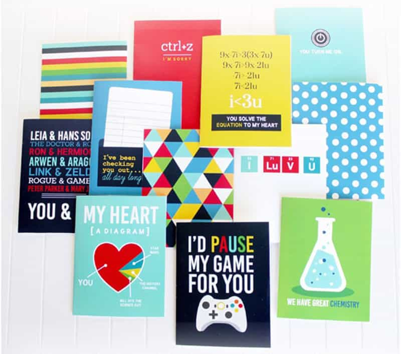 """Nerdy Valentines Cards collection 'I'd Pause my game for you"""" and more from The Dating Divas"""