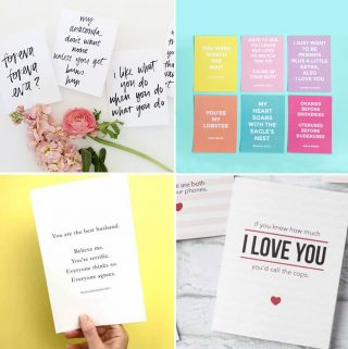 Free Valentines Card Printables collate with colorful cards and funny phrases on them