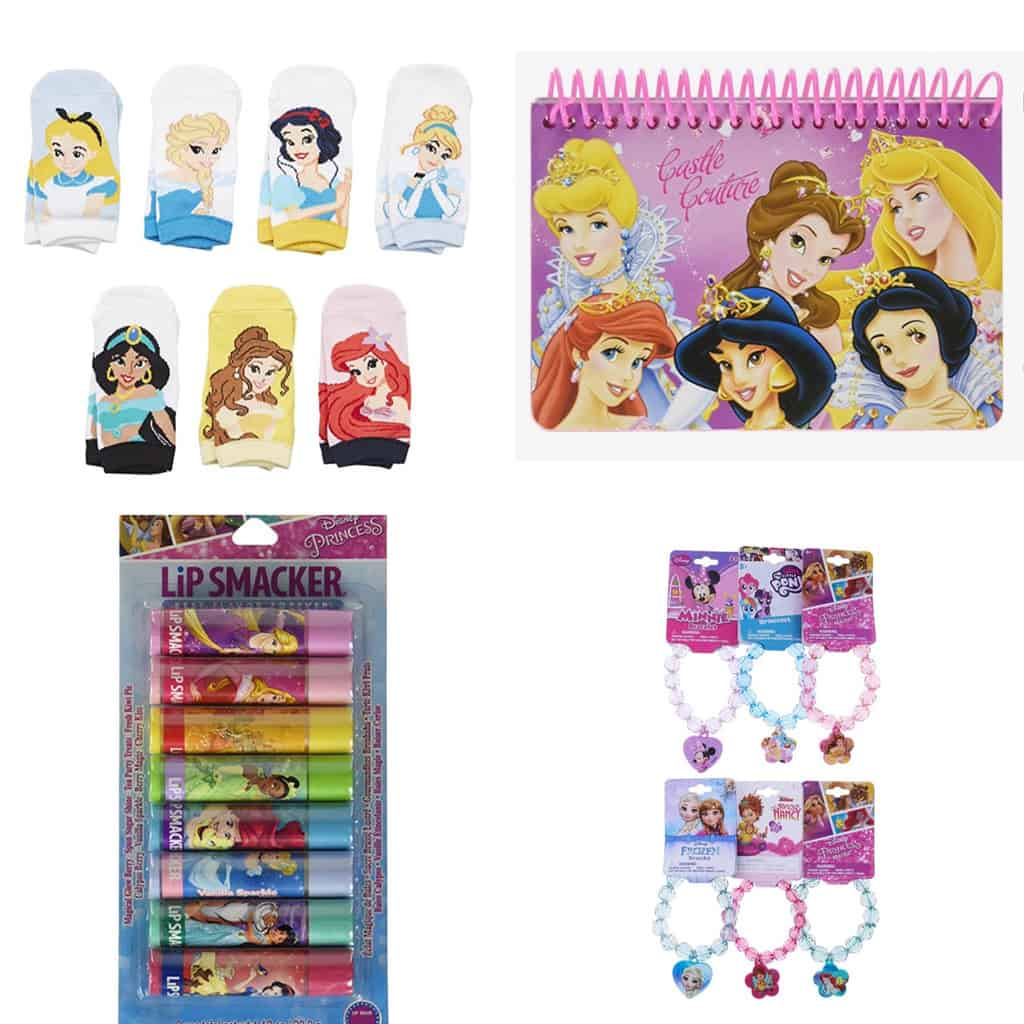 collage of disney princess fish extender gifts
