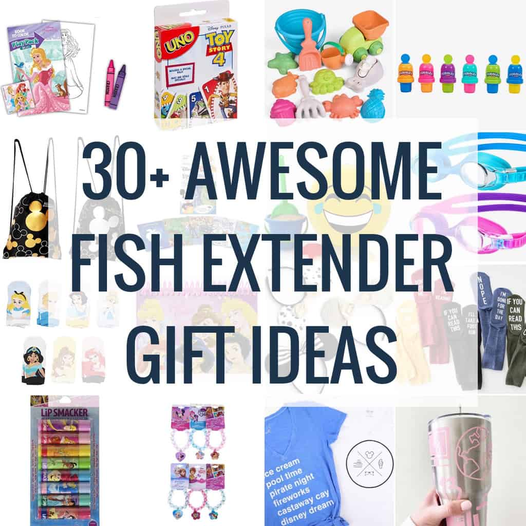 big collage of disney fish extender gift ideas optimized for pinterest