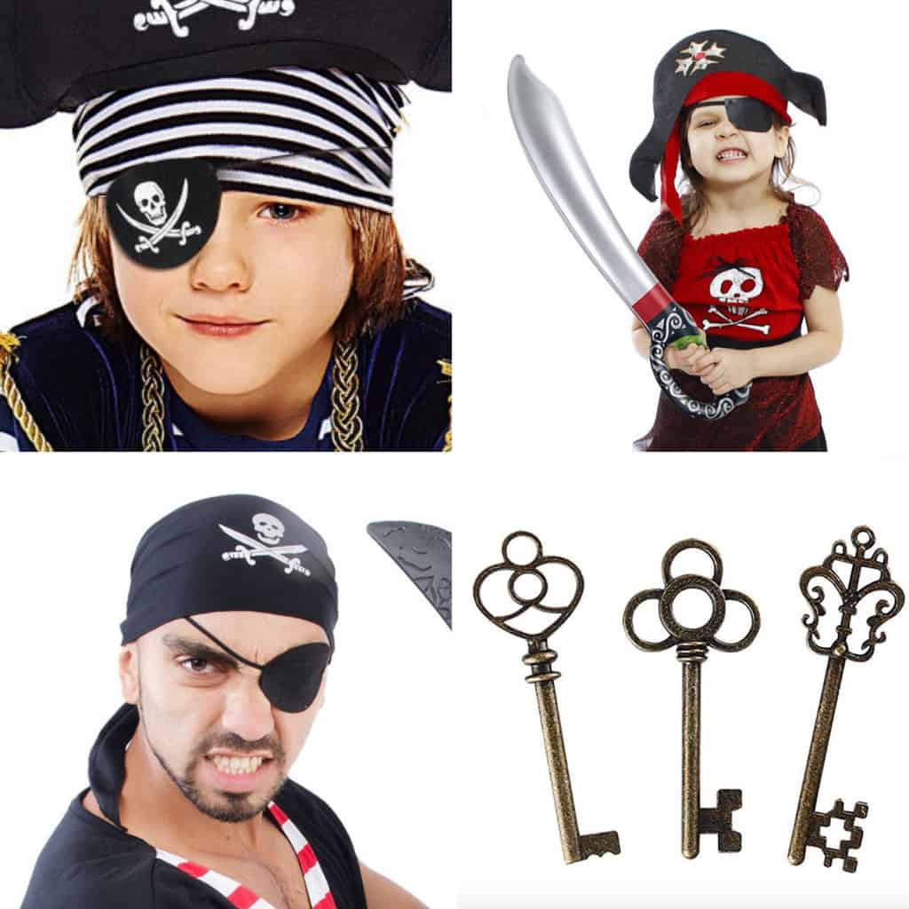 a collage of pirate themed gift ideas