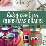 Baby food jar Christmas craft ideas long vertical pinterest collage