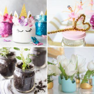 Baby food jar craft ideas collage
