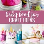 Baby food Jar craft ideas pinterest collage with five ideas