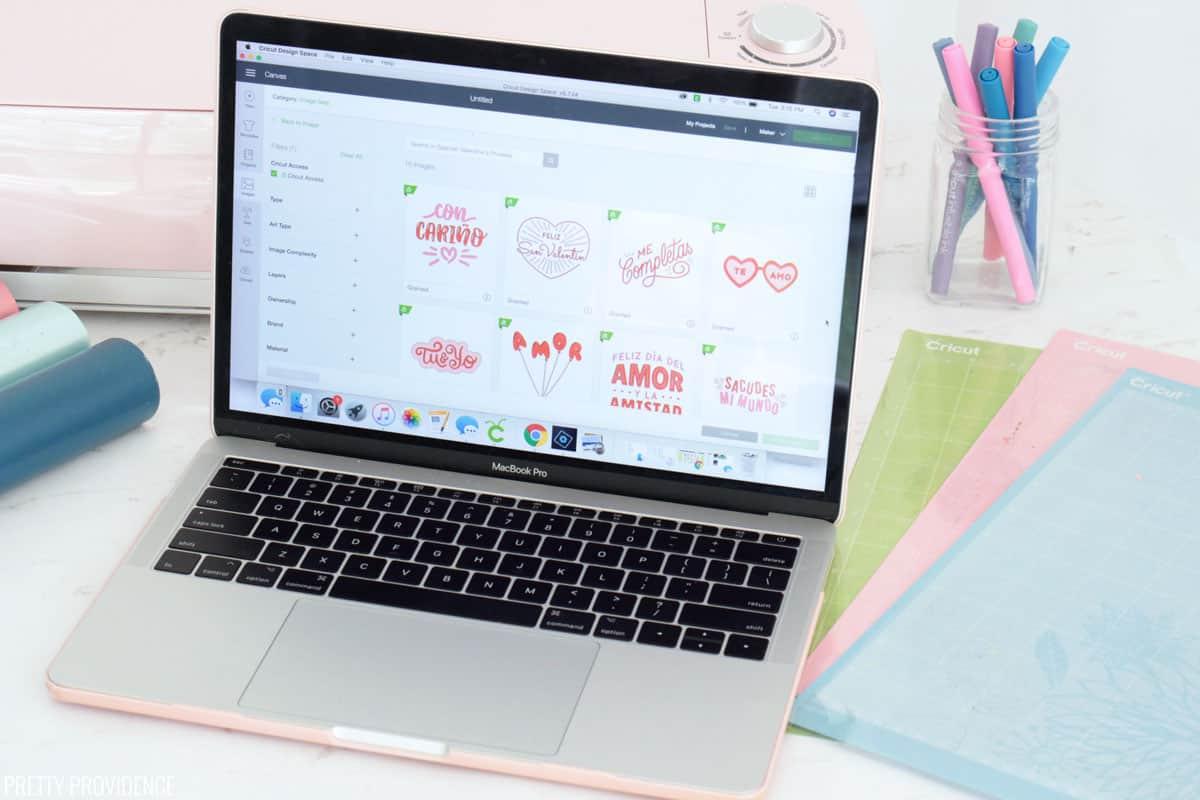 Cricut Access in Cricut Design Space on a laptop with Cricut Supplies