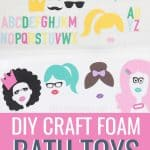 DIY bath toys with title how to cut craft foam with Cricut Maker