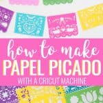 how to make Papel Picado fiesta banner collage for pinterest
