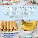 collage image of mario birthday party optimized for pinterest