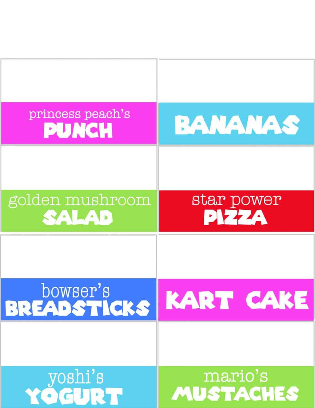 mario party food labels pdf