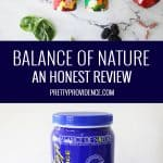 two images of Balance of Nature supplements optimized in a collage for pinterest