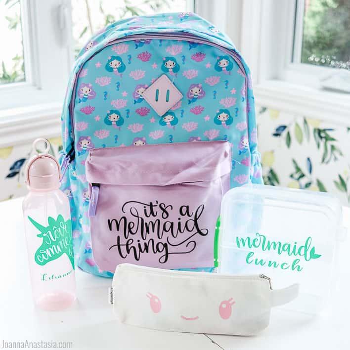 Mermaid Backpack and School supplies