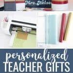 """Personalized teacher gifts collage with step by step images and text that says """"personalized teacher gifts"""""""