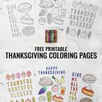 two images of thanksgiving coloring pages put together for Pinterest