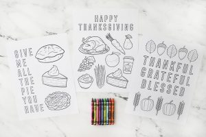 blank thanksgiving coloring pages