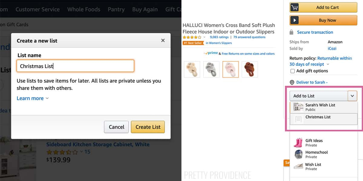 Create an Amazon Wish List text box, and drop-down menu to add item to list