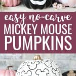 Mickey Mouse pumpkins collage