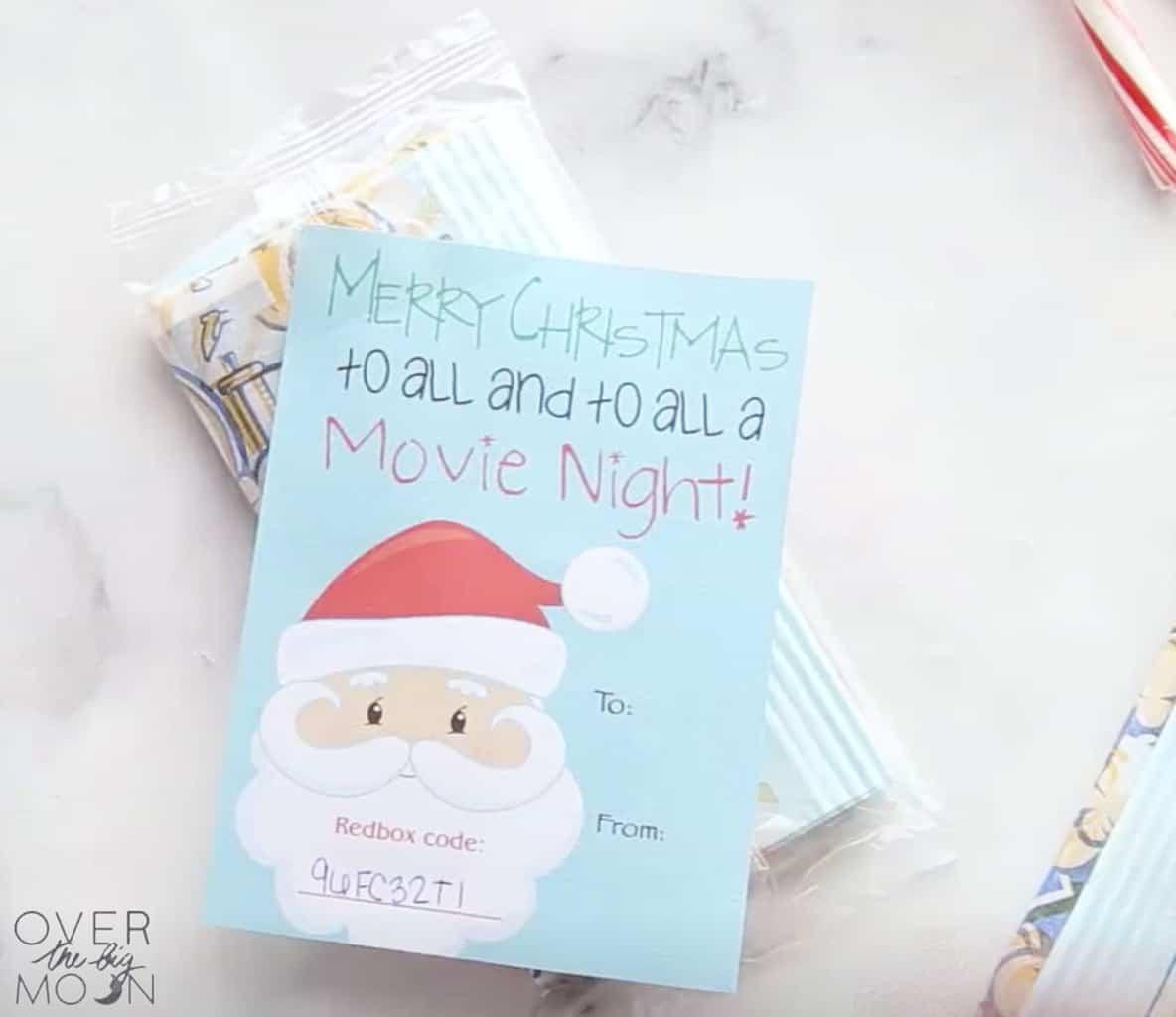 Redbox Movie Night Neighbor Gift Tag
